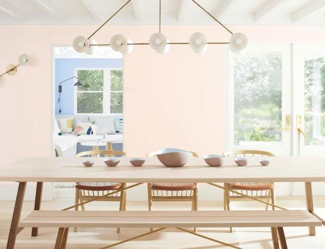 สีทาบ้านสีชมพู