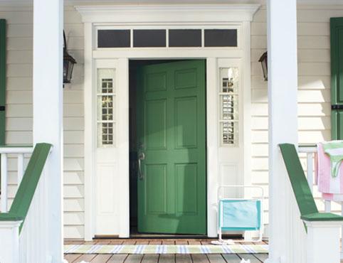 สีทาประตูบ้าน